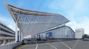 Charlotte's Airport new exterior
