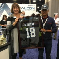 Raffling off the signed NFL Jersey